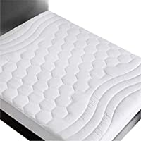 Bedsure Mattress Pad - Breathable - Ultra Soft Quilted Mattress Pad Deep Pocket, Fitted Sheet Mattress Cover