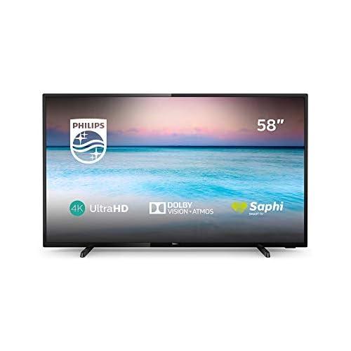 chollos oferta descuentos barato Philips 58PUS6504 12 Smart TV LED 4K UHD 58 pulgadas Resolución de pantalla 3840 x 2160 Negro brillante