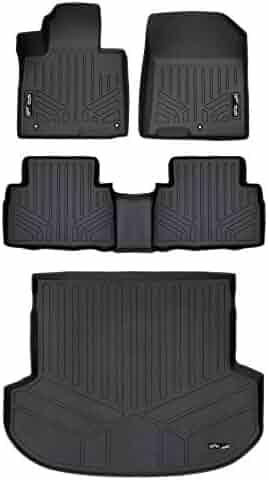 MAXLINER Custom Fit Floor Mats 1st Row Liner Set Black for 2019 Hyundai Santa Fe 5 Passenger Models Floor Mats & Cargo Liners Floor Mats