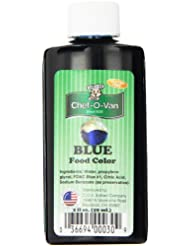 Chef-O-Van Food Coloring, Blue, 2 Ounce