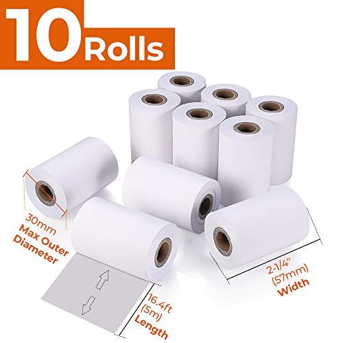 MUNBYN 10 Pcs Thermal Paper, for Mobile 58mm 30mm