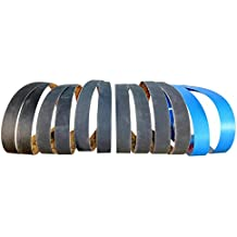 1 in. X 30 in. Premium Silicon Carbide Fine Grit Sanding Belts 220, 400, 600, 800, 1000 Grit Sharpening Belts 12 Pack Assortment