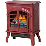 Electric Stove Heater, 17.5 Glossy Red Hottest Items Now