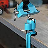 "Goplus Bench Vise Swivel 3"" Tabletop Clamp Vice"