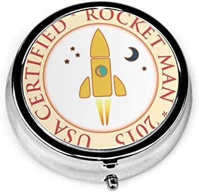 Fashion Round Pill Box Medicine Storage Bag Pocket Or Easy to Use Pillcase Medicine Bag Storage Bag Certified-Rocket-Man