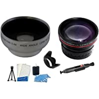 58mm Accessories Bundle 2x Telephoto HD Zoom Lens + 0.40x Wide Angle Lens + Lens Pen Kit + Lens Hood + Digi Mini Tripod + Screen Protectors + Camera Cleaning Kit for More Canon EOS Rebel T1i Digital SLR Camera Which Has Any Of These (18-55mm, 75-300mm, 50mm 1.4 , 55-200) Canon Lenses MADE IN JAPAN!