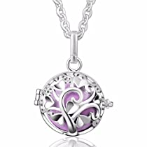 EUDORA Harmony Bola Tree of Love 20mm Angel Chime Caller Pendant Musical Chime Prayer Bell 30 Necklace White
