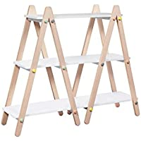 Babyletto Dottie Bookcase, White/Washed Natural