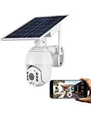 Outdoor Camera Wireless,FUVISION Solar Powered Battery PTZ IP Security Camera with 1080P Video Motion Detection,Indoor/Outdoor,Night Vision,Spotlight,2-Way Audio,Could Storage for Home Security