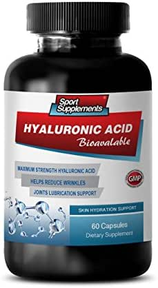 Support Joint Health - HYALURONIC Acid BIO-Available - Skin Hydration Support - hyaluronic Acid Supplements - 1 Bottle 60 Capsules