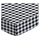 SheetWorld Fitted Cradle Sheet - Navy Gingham Check - Made In USA - 18 inches x 36 inches (45.7 cm x 91.4 cm)