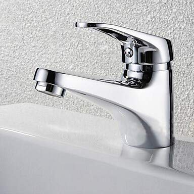 GFFXIXI Bathroom Sink Faucet - Waterfall Chrome Deck Mounted Single Handle One Hole