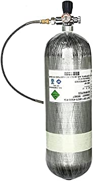 Gurlleu PCP Paintball Remote Line Coil & Fill Station Hose, G1/2 Thread, 8mm Quick Disconnet Plug Adapter