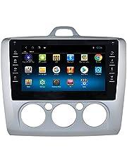 Android 10 autoradio gps-navigatie met 9 inch touchscreen voor Ford Focus Exi MT 2 3 Mk2 / Mk3 2004-2011, ondersteuning USB-verbinding SWC achteruitrijcamera Bluetooth EQ (zilver)