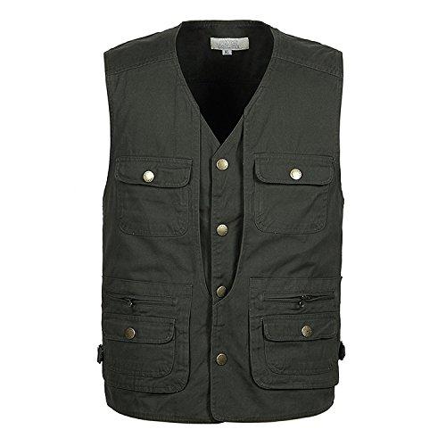1-XL  MJJ  Vest. maillages rapide sec plein air vieux pêche gilet gilet poche. printemps et été