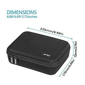 Mavic Mini Case JSVER Carrying Case Compatible with DJI Mavic Mini Hard Protective Case Travel Bag for DJI Mavic Mini Drone Accessories with Propeller Protectors and Control Stick Cover (Black) (Color: Black)