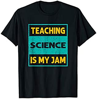 Teaching Science Is My Jam Science Teacher Retro Funny Quote T-shirt | Size S - 5XL
