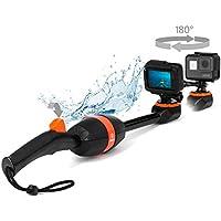 Spivo 360 + Buoy Floatation Device Bundle for GoPro Adventurers. Waterproof Swivel Camera Stick for any GoPro camera