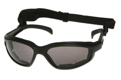 Chopper Men's Wind Resistant Motorcycle Wrap 57mm Dark Lens - Sunglasses Wind