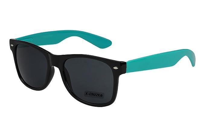 schwarz retro Herren Damen Sonnenbrille Nerdbrille grün