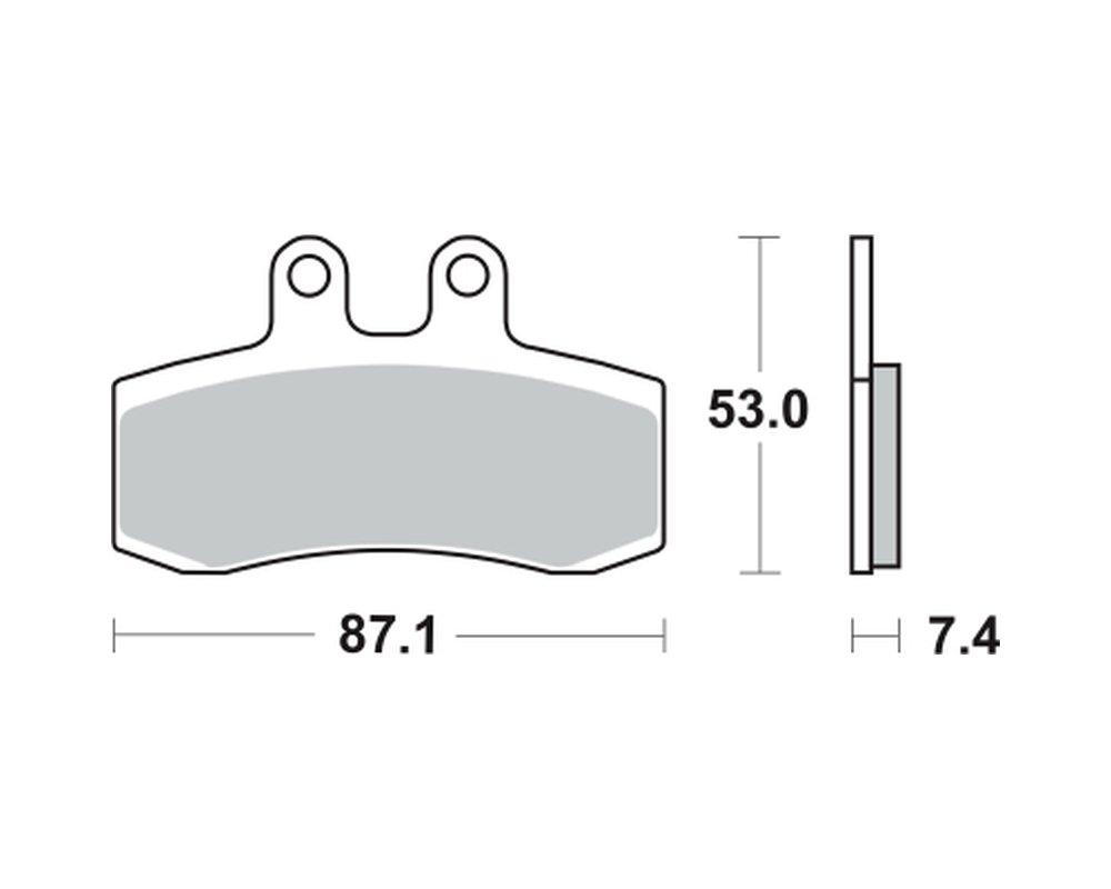 Bremsbel/äge TRW MCB 652 f/ür MUZ MZ 660 Supermoto 06- vorne
