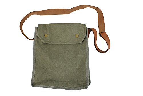 (Indiana Jones MK VII Gas Mask Bag Green Indy Props WWII)