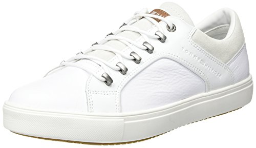 Hilfiger Homme Tommy M2285Oon White 2A1 Blanc Baskets Basses vxaZwqRd