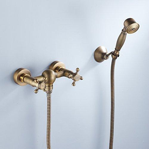 Lightinthebox Two Handles Antique Brass Wall Mount Shower...