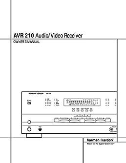harman kardon avr 210 av receiver owners instruction manual amazon rh amazon com Harman Kardon AVR 1650 harman kardon avr 210 manual