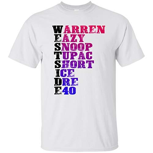 Coincard T-Shirt West Side Hip Hop Rap Music Artist Gift Shirt for Fan Men Woman White (Tupac Ring)