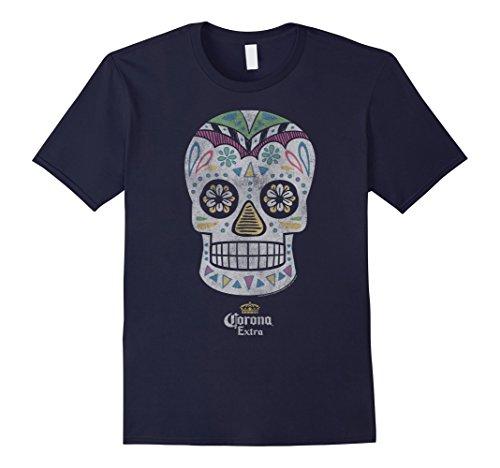 Mens Corona Logo Soft Hand Feel Short Sleeve T-Shirt Gift Idea Large Navy (Mens Corona Beer)