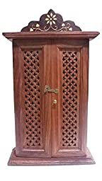 Father\'s Day Unique Gift Items Wooden Key Box ,Double Door Net Design, key security boxes,Cabinet Key Box.