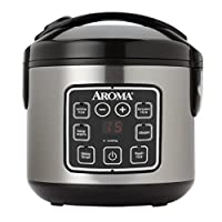 Aroma Housewares ARC-914SBD 2-8-Cups (Cooked) Digital Cool Rice Rice Cooker y alimentos, acero inoxidable