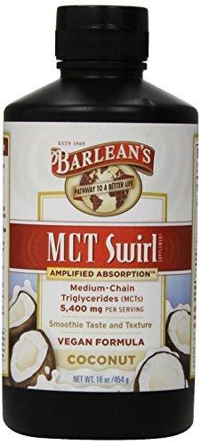 Barlean's Organic Oils, Cocunut, 5400mg MCT Swirl, 16 Ounce by Barlean's Organic Oils