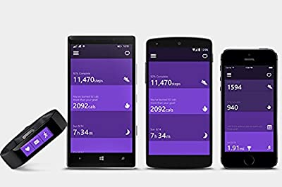 2014 Most Wanted Microsoft Band Smart Heath and Fitness Tracker With GPS Heart Rate Track Sleep Tracking and More (Medium)