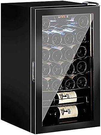 YFGQBCP Vinos más frío del termostato del refrigerador del hogar cigarro Hielo, Bodega Soda Cerveza Mostrador de Bar, Independiente Digital Transparente Puerta de Cristal