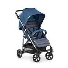 Hauck Rapid 4 Silla deportiva con respaldo reclinable para Bebés, desde nacimiento hasta 15 kg/4 años, Capacidad de carga 25 kg, Azul (Denim/Grey)