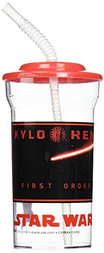 Disney Star Wars The Force Awakens Sports Tumbler with Lid & Straw (2 Pack) ()