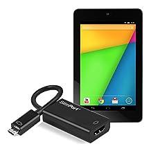 kwmobile Slim Port HDMI Adaptor (Micro-USB to HDMI) for Asus Google Nexus 7 (2013)