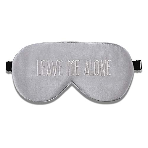ALASKA BEAR® Natural Silk Sleep mask & Blindfold, Super-Smooth Eye mask (Silver Grey Embroidery)