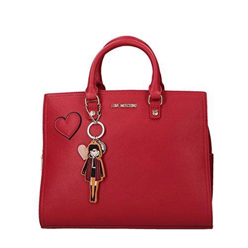 Love Moschino Girls & Heart handbag with belt red