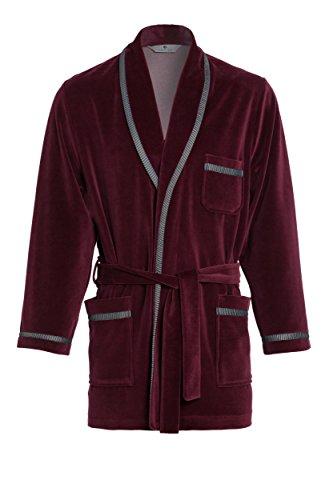 Corto Bordeaux Elegante Colore Revise Re Per Uomini 117 Vestaglia Gli fvnnw6Pq