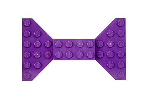 Purple Lego Bow Tie Brooch/Hair Clip by Kurly Kates