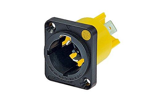 Neutrik NAC3MPX Powecon Tru1 Appliance Inlet Connector 1/4-Inch Flat Tab - Appliance Inlet