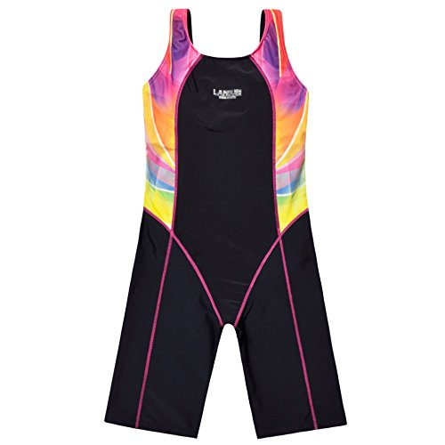 Perfashion Children Girl's Competive Legsuit Muscleback Swimsuit Red - Swimming Costume Wetsuit