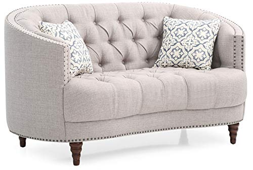 (Glory Furniture Charleston G850-L Loveseat, Light Gray. Living Room Furniture 36