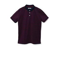 Mango Men's Striped Cotton Polo Shirt