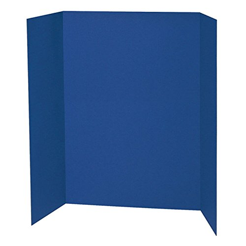 Pacon PAC3767BN Presentation Board, Blue, Single Wall, 48