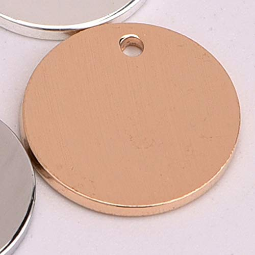 Laliva 20pcs/lot 12mm Round tag Disc Copper Carving Logo Annulus Loop Coins Shape for DIY Earring Jewelry Making Collares - (Color: kc Gold Color)