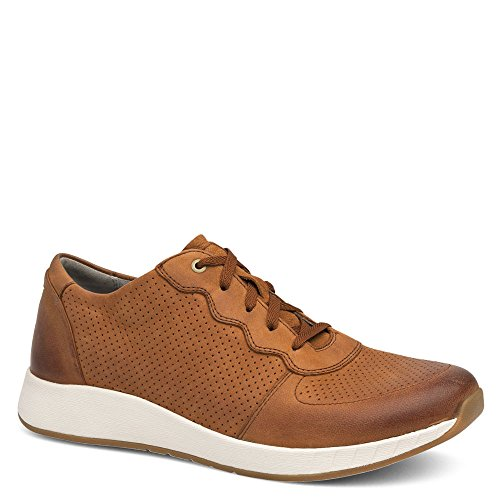 Dansko New Women's Christina Sneaker Saddle Burnished Nubuck 38